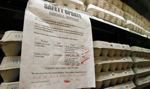 มะกันเก็บไข่คืน 380 ล้านฟอง หวั่นเปื้อนเชื้อ