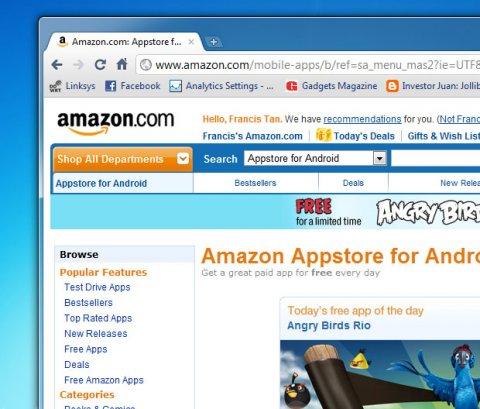 เปิดตัว Amazon Appstore ท้าชน Android Market